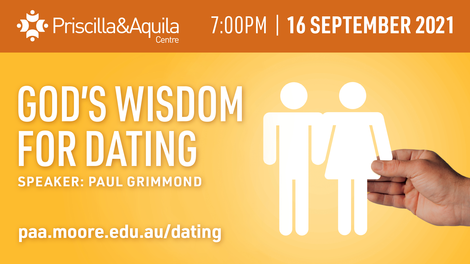 God's wisdom for dating event image